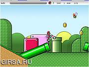 Флеш игра онлайн Супер крест Марио / Super Mario Cross