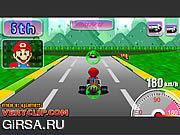 Флеш игра онлайн Супер Марио Kart / Super Mario Kart