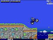 Флеш игра онлайн Super Sonic Motorbike