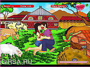 Флеш игра онлайн Сладостный поцелуй в животном парке / Sweet Kiss In Animal Park