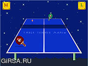 Флеш игра онлайн Table Tennis Mario