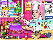 Флеш игра онлайн Рождественский тортик / Tantalizing Christmas Cake