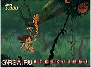 Флеш игра онлайн Тарзан и бананы