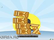 Флеш игра онлайн Штабелеукладчик Tiki / Tiki Stacker