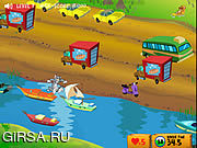 Флеш игра онлайн Том и Джерри - Перебеги дорогу / Tom And Jerry - Cat Crossing