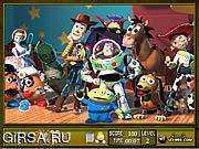Флеш игра онлайн История игрушек - найти предметы / Toy Story 3 Hidden Objects