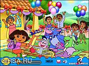 Флеш игра онлайн Дора в поисках Сокровищ / Treasure Hunt - Dora