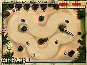 Флеш игра онлайн Тропический Картинг