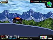 Флеш игра онлайн Гоночный Грузовик Безумие / Truck Racing Madness