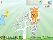Флеш игра онлайн Твити Цвет Сафари / Tweety's Color Safari