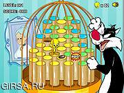Флеш игра онлайн Твити в клетке-хоп