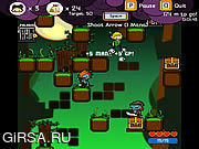 Флеш игра онлайн Vertical Drop Heroes