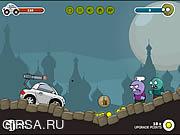 Флеш игра онлайн Колеса и зомби