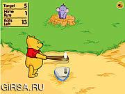 Флеш игра онлайн Дома Винни-Пуха бежать Дерби / Winnie The Pooh's Home Run Derby