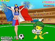 Флеш игра онлайн Топ-модели одевается / WorldCup DressUp