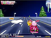 Флеш игра онлайн Автомобиль Yuju розовый / Yuju Pink Car