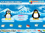 Флеш игра онлайн Yum Penguins Dinner