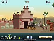 Флеш игра онлайн Zombie Tank Battle