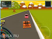 Флеш игра онлайн Zombie Racing