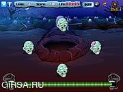 Флеш игра онлайн Зомби Черепа