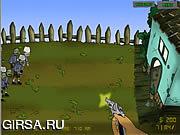 Флеш игра онлайн Защита от зомби / Zombudoy