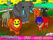 Флеш игра онлайн Зоопарк Раскраска / Zoo Coloring