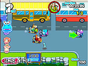 Флеш игра онлайн Гонщик - зверь / Zoo Racer