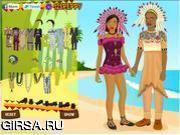 Флеш игра онлайн Африканская свадьба / African Wedding Dressup