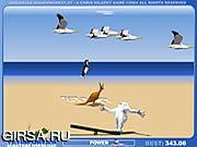 Флеш игра онлайн Веселые пингвины / Yeti Sports (Part 4) - Albatros Overload
