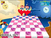 Флеш игра онлайн Алиса в стране шашечных чудес