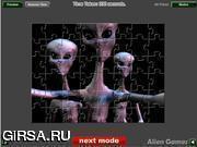 Флеш игра онлайн Контакт с пришельцами Пазл / Alien Contact Jigsaw