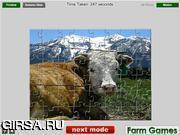 Флеш игра онлайн Alpine Cow Jigsaw