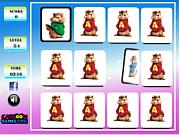 Флеш игра онлайн Элвин и бурундуки - найди пары / Alvin and the Chipmunks Memory