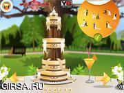 Флеш игра онлайн Свадебный торт / Amazing Wedding Cake Decoration