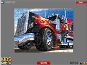 Флеш игра онлайн Американский грузовик. Пазл / American Truck - Puzzle