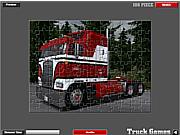 Флеш игра онлайн Американский грузовик. Пазл / American Truck Puzzle