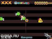 Флеш игра онлайн Злой стрелок / Angry Bird Shooter