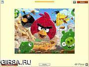 Флеш игра онлайн Angry Birds: головоломка