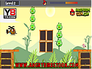 Флеш игра онлайн Злые птички на вертолете / Angry Birds Hero Helicopter