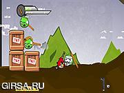 Флеш игра онлайн Приключение злых птичек / Angry Weirds