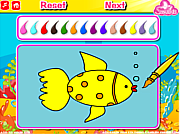 Флеш игра онлайн Aquarium Fish Coloring
