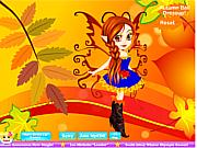 Флеш игра онлайн Наряд для королевы осени / Autumn Fairy Dressup