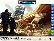 Флеш игра онлайн Найти числа - Лазурный Дракон / Azure Dragon Find Numbers