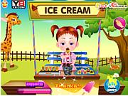 Флеш игра онлайн Приключения в зоопарке / Baby Emma Zoo Adventure