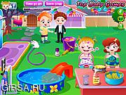 Флеш игра онлайн Малышка Хейзел на вечеринке на заднем дворе