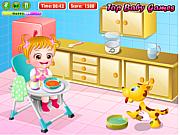 Флеш игра онлайн Уход за малышкой Хейзел
