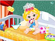 Флеш игра онлайн Забота о малышке принцессе / Baby Princess Royal Care