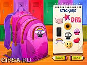 Флеш игра онлайн Украшение рюкзака и ручки
