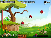 Флеш игра онлайн Злые птички атакуют поросят / Bad Pig Defense