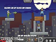 Флеш игра онлайн Воздушные шары против зомби